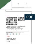 Jason Dominguez - La Escala 20-80 y el sistema de evaluación _ Listín Diario