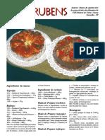 Bolo Rubens - Curso Técnico de Alimentos