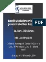 Variacion en los frentes Glaciares Andinos