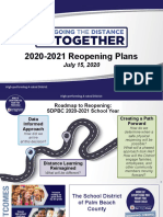 2020-2021 Reopening Plan for School Board