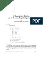 El Registrador Publico en el Sisteme Registral Peruano