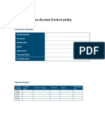 Network Device Access Control Policy
