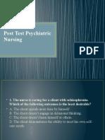 Pre-Test Psychiatric Nursing