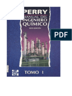 Manual del Ingeniero Químico - Perry - Sexta Edición