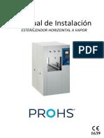 MU.020.C.E - Esterilizador Horizontal - MANUAL DE INSTALACIÓN
