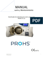 MU.030.A.E Manual de Usuario y Mantenimiento PROHS TS-25