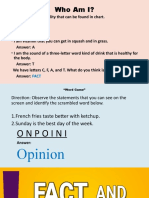 PPP-Fact and Opinion