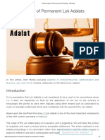 Critical analysis of Permanent Lok Adalats - iPleaders