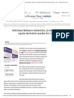 Reliance Industries_ Sebi bans Reliance Industries, 12 others from equity derivative market for 1 year - The Economic Times