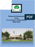 Balochistan Financial Statments 2018-19