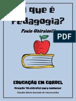 Ghiraldelli Educacao Em Cordel Projeto 10 Estrofes