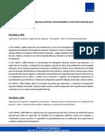 Resumen Normativa y Recomendaciones Internacionales