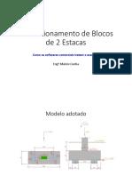 Dimensionamento de blocos de 2 Estacas