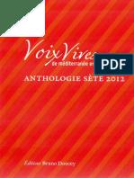 Au concert, poème de Catherine Boudet dans l'Anthologie des Voix Vives Sète 2012