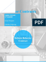 Behavior Contract - Annisa Ariyanti (1771342009)