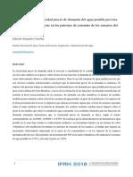Estimación de la elasticidad precio de demanda del agua potable provista - Instituto Nacional del Agua (IFRH_2018_paper_29)
