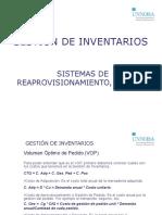 Gestión de Inventarios (Sistemas de reposición de stock)