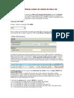 Manual SAP VKM3 para liberar ordem do cliente do bloco de crédito