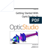Getting Started With OpticStudio 16