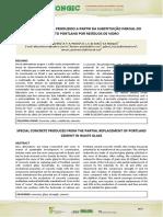Artigo - Concreto Especial Com Substituição Parcial Do Cimento Por Vidro