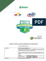 2019 Smart National Open Badminton Tournament Prospectus