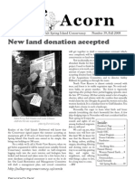 Fall 2008  Acorn Newsletter - Salt Spring Island Conservancy