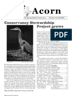 Fall 2009  Acorn Newsletter - Salt Spring Island Conservancy