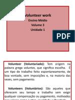 Unidade 1 - Volunteer Work