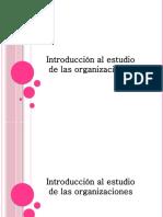 ESTUDIOS DE ORGANIZACIONES