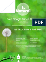 Natural Green Background Google Slides Themes