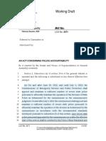 Police -- Draft Legislation 7-9-2020