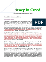 Sufficiency in Creed
