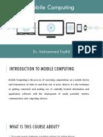Mobile Computing - 1