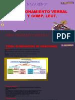 RAZONAMIENTO VERBAL  ELIMINACIÓN DE ORACIONES  QUINTO.pptx