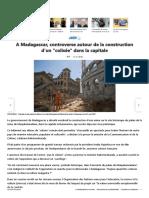 A Madagascar, controverse autour de la construction d'un _colisée_ dans la capitale