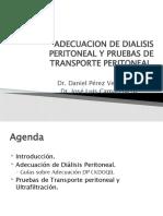 Adecuacion de Dialisis Peritoneal y Pruebas de Transporte