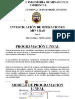 Sesion 2 (Programación Lineal) - Investigación de Operaciones