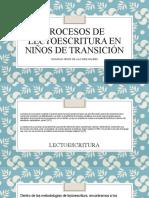 PROCESOS DE LECTOESCRITURA EN NIÑOS DE TRANSICIÓN