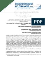 CHALHUB, Tania. et al. Acessibilidade e Inclusão - Informação em Museus para surdos_artigo.pdf
