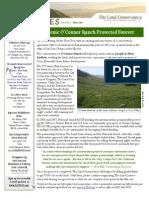 Winter 2010 Landlines Newsletter ~ Land Conservancy of San Luis Obispo County