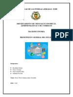 ENSAYO presupuesto general del estado