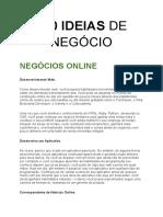 100 IDEIAS DE NEGÓCIO
