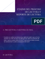 ETAPAS DEL PROCESO DE LECTURA Y REPORTE DE