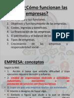 OBJETIVOS Y FUNCIONES DE LAS EMPRESAS