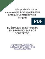 Taller Metodología Andragógica con  Enfoque  Constructivista