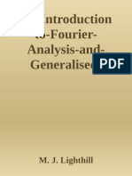 Introduction to Fourier Analysis and Generalised Functions, An.epub