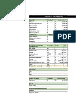 flujo de caja e indicadores de rentabilidad actual