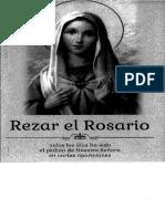 rezar el rosario a maria