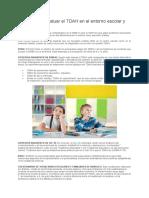 Escalas para evaluar el TDAH en el entorno escolar y familiar