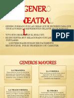 GENERO TEATRAL 3º